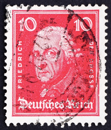 GERMANY - CIRCA 1926: a stamp printed in the Germany shows Frederick the Great, King of Prussia, circa 1926 Stock Photo - 12179757