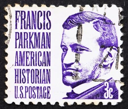 horticulturist: UNITED STATES OF AMERICA - CIRCA 1967: a stamp printed in the United States of America shows Francis Parkman, historian and horticulturist, circa 1967