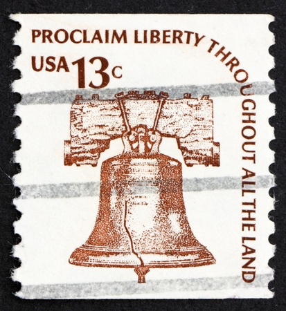 liberty bell: UNITED STATES OF AMERICA - CIRCA 1975: a stamp printed in the United States of America shows Liberty Bell, Symbol of Freedom, circa 1975