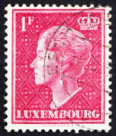LUXEMBOURG - CIRCA 1948: a stamp printed in the Luxembourg shows Charlotte, Grand Duchess of Luxembourg, Reign from 1919 to 1964, circa 1948