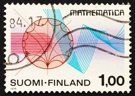 rhythmical: FINLAND - CIRCA 1978: a stamp printed in the Finland shows Function Theory and Rhythmical Lines, International Congress of Mathematicians, Helsinki, circa 1978