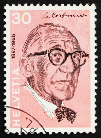 SWITZERLAND - CIRCA 1972: a stamp printed in the Switzerland shows Le Corbusier, Charles Edouard Jeanneret, Architect, circa 1972 photo