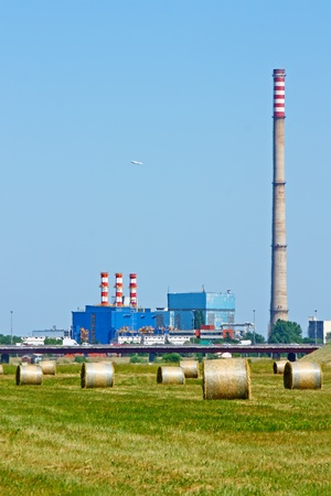 Nature and industry in a hot, summer day Stock Photo - 12504473