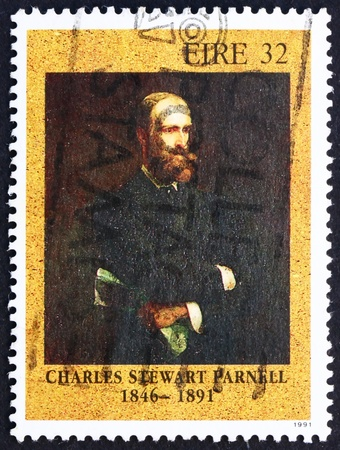 IRELAND - CIRCA 1991: a stamp printed in the Ireland shows Charles Stewart Parnell, Politician, circa 1991 Stock Photo - 12559631