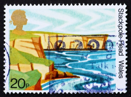 GREAT BRITAIN - CIRCA 1981: a stamp printed in the Great Britain shows Stackpole Head, Dyfed, Wales, circa 1981 Stock Photo - 12847505