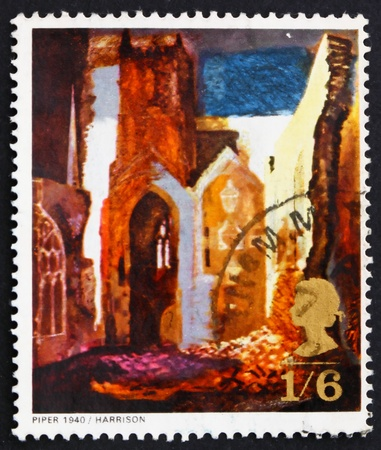 GREAT BRITAIN - CIRCA 1968: a stamp printed in the Great Britain shows St. Mary le Port, by John Piper, circa 1968 photo