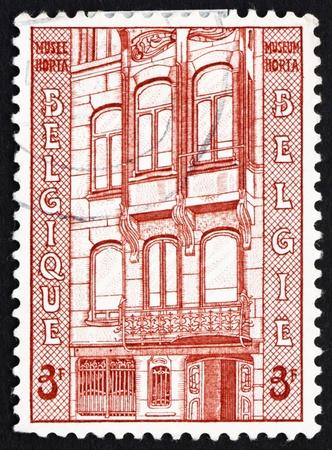 baron: BELGIUM - CIRCA 1962: a stamp printed in the Belgium shows Horta Museum, Baron Victor Horta, Architect, Belgium, circa 1962