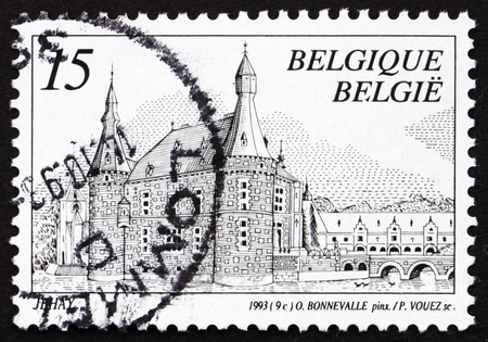 BELGIUM - CIRCA 1993: a stamp printed in the Belgium shows Castle Jehay, Belgium, circa 1993 Stock Photo - 12847345