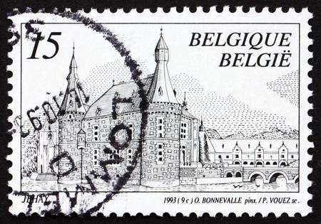 BELGIUM - CIRCA 1993: a stamp printed in the Belgium shows Castle Jehay, Belgium, circa 1993 Stock Photo - 12847345