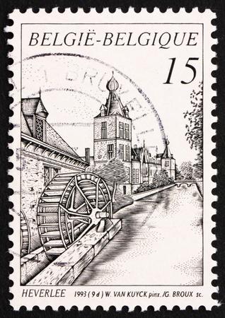 BELGIUM - CIRCA 1993: a stamp printed in the Belgium shows Castle Arenberg, Heverlee, Belgium, circa 1993 Stock Photo - 12847353