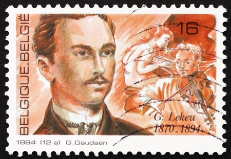 BELGIUM - CIRCA 1994: a stamp printed in the Belgium shows Guillaume Lekeu, Composer, circa 1994 Stock Photo - 12925772