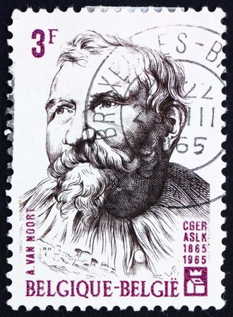 BELGIUM - CIRCA 1965: a stamp printed in the Belgium shows Adam van Noort, Flemish Painter and Draughtsman, circa 1965