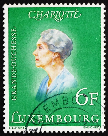 LUXEMBOURG - CIRCA 1976: a stamp printed in the Luxembourg shows Charlotte, Grand Duchess of Luxembourg, Reign from 1919 to 1964, circa 1976