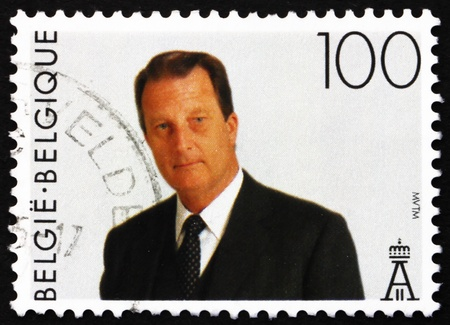 BELGIUM - CIRCA 1994: a stamp printed in the Belgium shows King Albert II, Belgian king, circa 1994