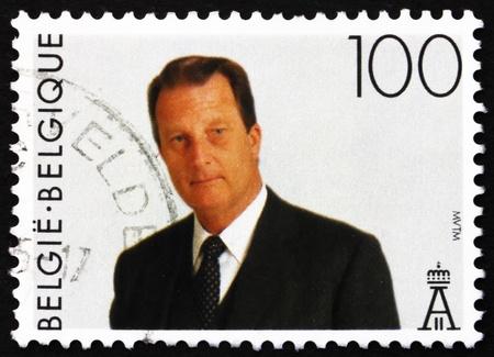 BELGIUM - CIRCA 1994: a stamp printed in the Belgium shows King Albert II, Belgian king, circa 1994 Stock Photo - 13021510
