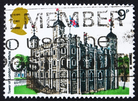 GREAT BRITAIN - CIRCA 1978: a stamp printed in the Great Britain shows Tower of London, the White Tower, circa 1978 Stock Photo - 13021523