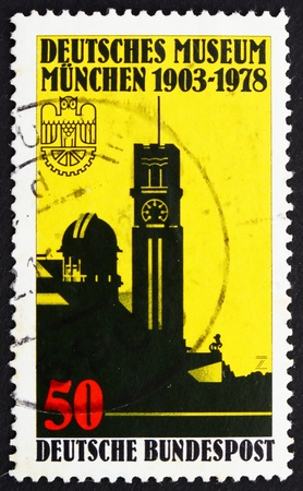 natural sciences: GERMANY - CIRCA 1978: a stamp printed in the Germany shows German Museum for Natural Sciences and Technology, Munich, 75th Anniversary, circa 1978