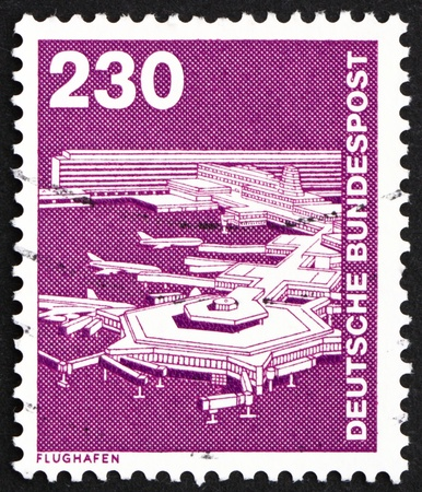 GERMANY - CIRCA 1979: a stamp printed in the Germany shows Frankfurt Airport, circa 1979 Stock Photo - 13021530