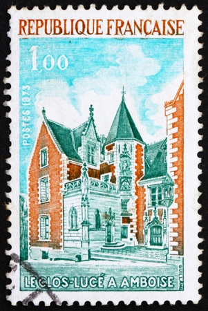 luce: FRANCE - CIRCA 1973: a stamp printed in the France shows Clos Luce, Amboise, France, circa 1973 Editorial