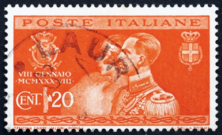 ITALY - CIRCA 1930: a stamp printed in the Italy shows Marriage of Prince Humbert of Savoy with Princess Marie Jose of Belgium, circa 1930