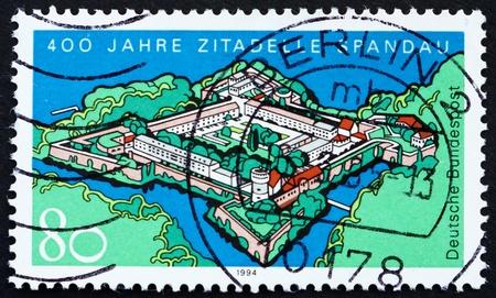 spandau: GERMANY - CIRCA 1994: a stamp printed in the Germany shows Spandau Fortress, 400th Anniversary, circa 1994