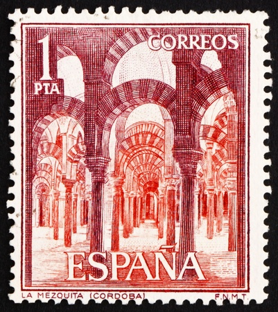 SPAIN - CIRCA 1964: a stamp printed in the Spain shows Interior of La Mezquita, Cordova, Cordoba, Andalusia, Spain, circa 1964 Stock Photo - 13337239