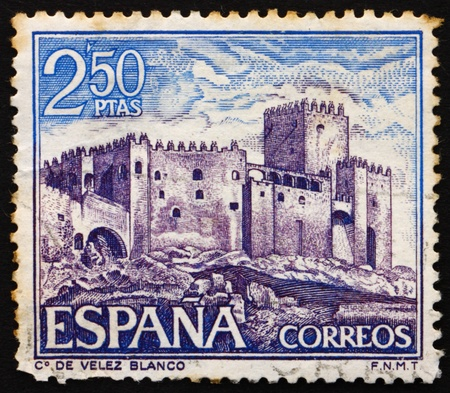 SPAIN - CIRCA 1969: a stamp printed in the Spain shows Velez Blanco, Almeria, Spain, circa 1969 Stock Photo - 13365115