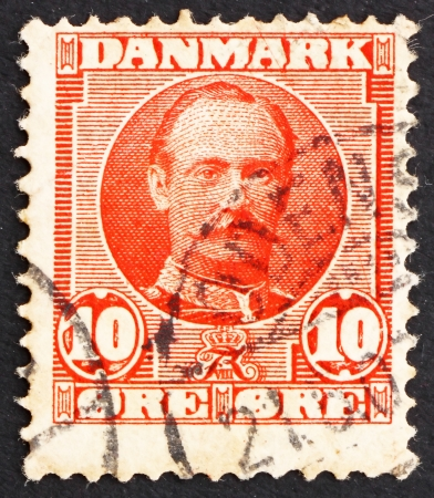 DENMARK - CIRCA 1907: a stamp printed in the Denmark shows King Frederik VIII, King of Denmark, circa 1907