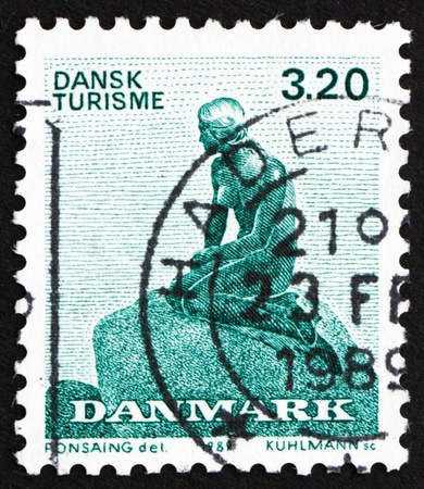 DENMARK - CIRCA 1989: a stamp printed in the Denmark shows The Little Mermaid, Sculpture by Edvard Eriksen, circa 1989