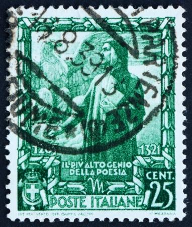dante alighieri: ITALY - CIRCA 1938: a stamp printed in the Italy shows Dante Alighieri, Italian Poet, circa 1938