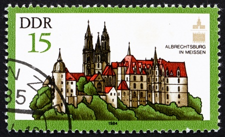 albrecht: GDR - CIRCA 1984: a stamp printed in GDR shows Albrecht Castle, Meissen, Germany, circa 1984 Editorial