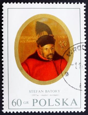 POLAND - CIRCA 1970: a stamp printed in the Poland shows King Stefan Batory, Painting by Anonymous Painter, circa 1970 Stock Photo - 14406598