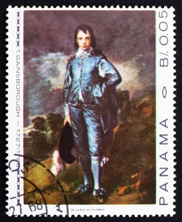 PANAMA - CIRCA 1967: a stamp printed in the Panama shows The Blue Boy, Painting by Thomas Gainsborough, circa 1967