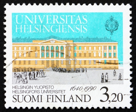 FINLAND - CIRCA 1990: a stamp printed in the Finland shows Degree Ceremony Procession, University of Helsinki, 350th Anniversary, circa 1990 Stock Photo - 14466860