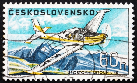 CZECHOSLOVAKIA - CIRCA 1967: a stamp printed in the Czechoslovakia shows Sports Plane L-40, Airplane, circa 1967