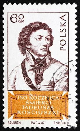 POLAND - CIRCA 1967: a stamp printed in the Poland shows Tadeusz Kosciusko, Polish Patriot and General in the American Revolution, circa 1967 Stock Photo - 14612528