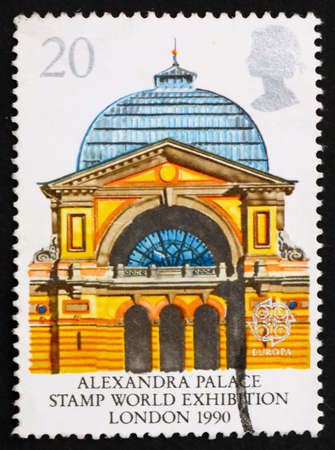 GREAT BRITAIN - CIRCA 1990: a stamp printed in the Great Britain shows Alexandra Palace, London, Stamp World Exhibition, circa 1990 Stock Photo - 14681551