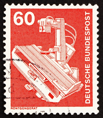 GERMANY - CIRCA 1978: a stamp printed in the Germany shows X-Ray Machine, circa 1978 Stock Photo - 14681566