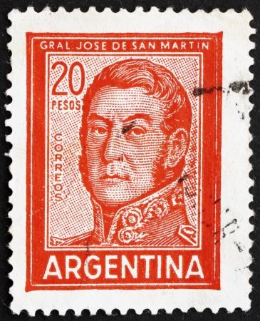 ARGENTINA - CIRCA 1967: a stamp printed in the Argentina shows Jose de San Martin, General, circa 1967 Stock Photo - 14755920