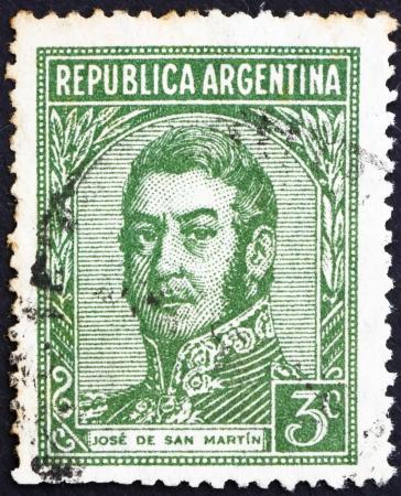 ARGENTINA - CIRCA 1935: a stamp printed in the Argentina shows Jose de San Martin, General, circa 1935 Stock Photo - 14818446