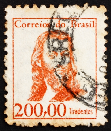 silva: BRAZIL - CIRCA 1965: a stamp printed in the Brazil shows Tiradentes, Joaquim Jose da Silva Xavier, Revolutionary, National Hero, circa 1965