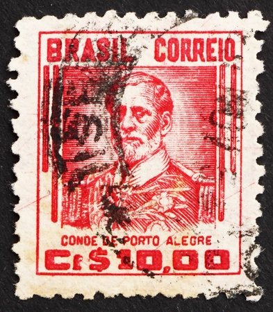 abolitionist: BRAZIL - CIRCA 1941: a stamp printed in the Brazil shows Manuel Marques de Sousa, Count of Porto Alegre, Soldier, Politician, Abolitionist and Monarchist, circa 1941 Editorial