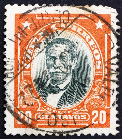 CHILE - CIRCA 1911: a stamp printed in the Chile shows Manuel Bulnes Prieto, 5th President of Chile, 1841 - 1851, circa 1911 Stock Photo - 14818440