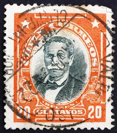 CHILE - CIRCA 1911: a stamp printed in the Chile shows Manuel Bulnes Prieto, 5th President of Chile, 1841 - 1851, circa 1911 Stock Photo - 14818440