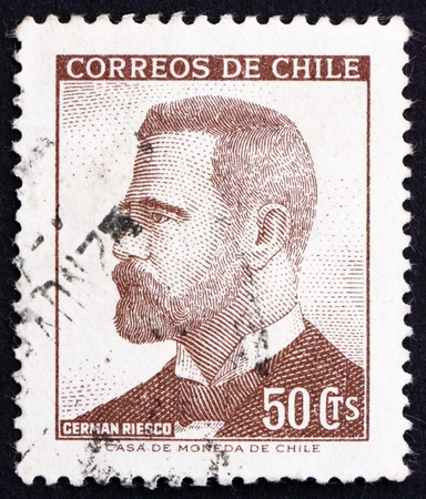 CHILE - CIRCA 1966: a stamp printed in the Chile shows German Riesco, 5th President of Chile, 1901 - 1906, circa 1966 Stock Photo - 14818439