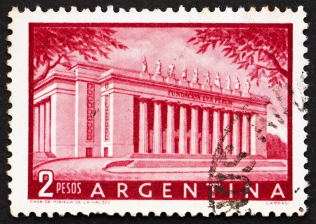 peron: ARGENTINA - CIRCA 1954: a stamp printed in the Argentina shows Eva Peron Foundation Building, circa 1954 Editorial