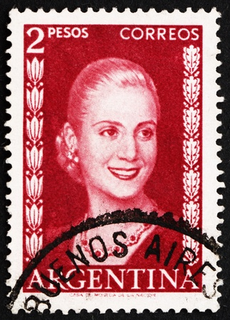 evita: ARGENTINA - CIRCA 1953: a stamp printed in the Argentina shows Maria Eva Duarte de Peron, First Lady of Argentina, circa 1953
