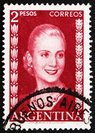 ARGENTINA - CIRCA 1953: un francobollo stampato in Argentina mostra Maria Eva Duarte de Peron - 14818782-argentina--circa-1953-un-francobollo-stampato-in-argentina-mostra-maria-eva-duarte-de-peron-first-la