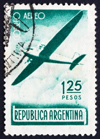 ARGENTINA - CIRCA 1940: a stamp printed in the Argentina shows Plane in Flight, circa 1940