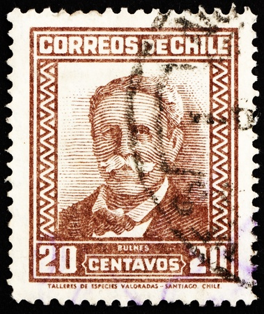 CHILE - CIRCA 1931: a stamp printed in the Chile shows Manuel Bulnes Prieto, 5th President of Chile, 1841 - 1851, circa 1931 Stock Photo - 14819765
